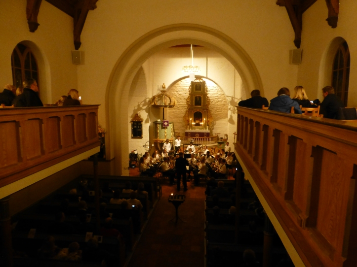 Stemning i Eidsvoll kirke i kveld
