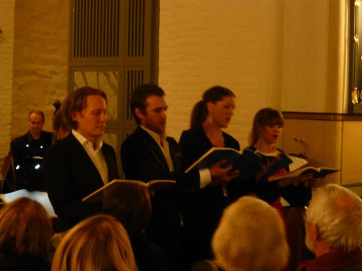 Bård Bratlie, bass, Mathias Gillebo, tenor, Jeanette E. Goldsten, alt og Ragnhild Thu Austnaberg, sopran