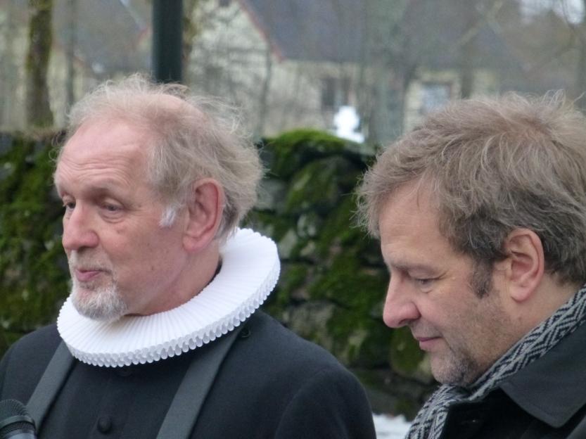 """""""Prost Leganger"""" intervjues av Torleif på kirkebakken"""