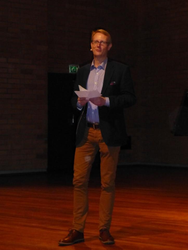 Musikkhøgskolens rektor var glad og beæret over besøk fra Eidsvoll. Følelsen var gjensidig.