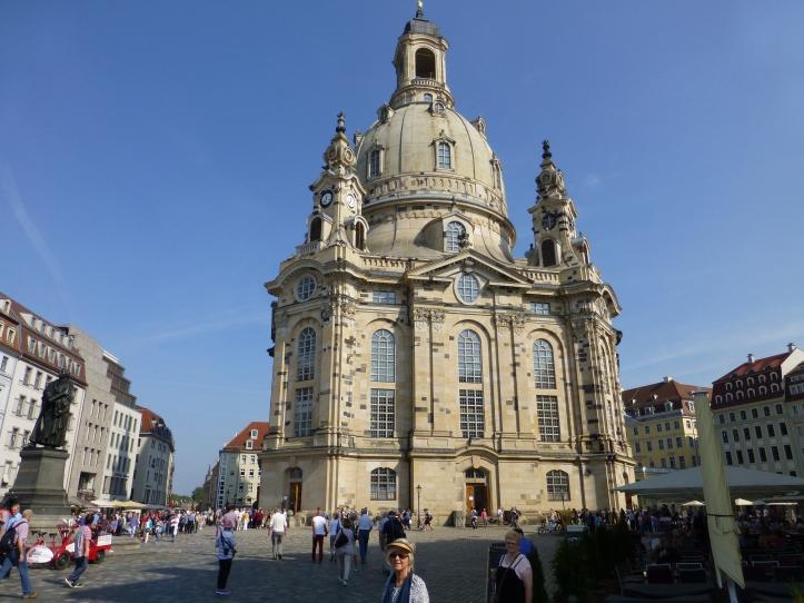 Frauenkirche, Dresden. Jevnet med jorden 13. februar 1945. Gjenskapt