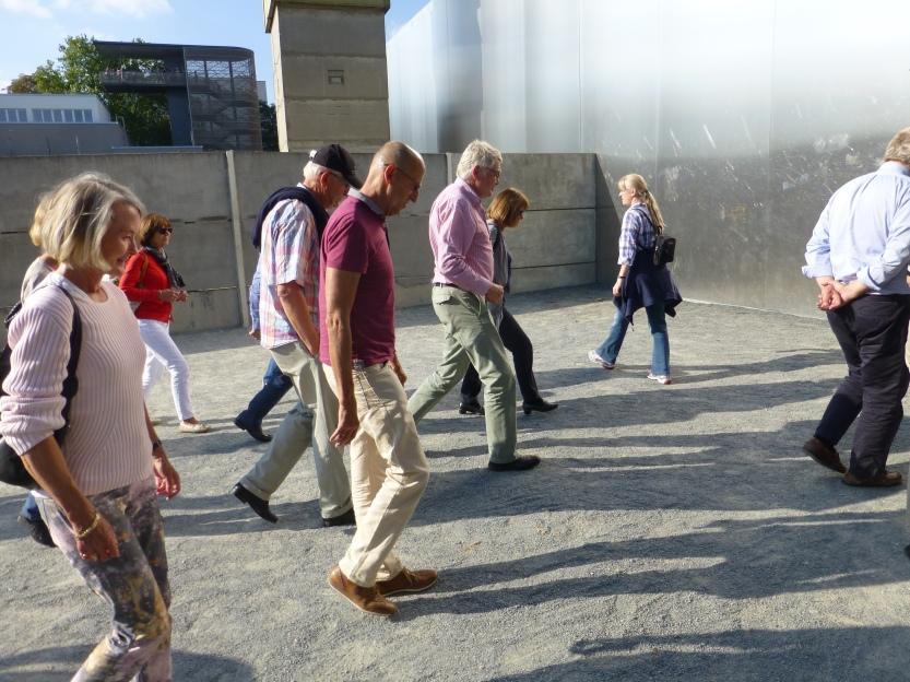 I dødssonen i det nye murmuseet i Bernauerstrasse