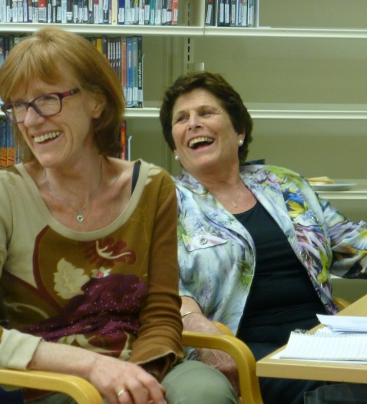 Marianne og Else i godt humør selv om Else forlater styret.